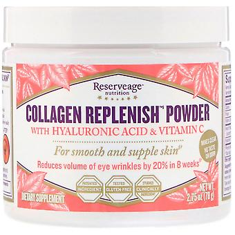 ReserveAge Nutrition, Collagen Replenish Powder with Hyaluronic Acid & Vitamin C