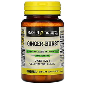 Mason Natural, Ginger-Burst, Bead-Release Technology, 60 Chewables