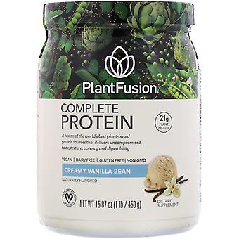 PlantFusion, Complete Protein, Creamy Vanilla Bean, 15.87 oz (450 g)