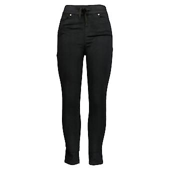 Martha Stewart Femmes's Knit Denim Pull-On Jeans /Drawstring Black A301080