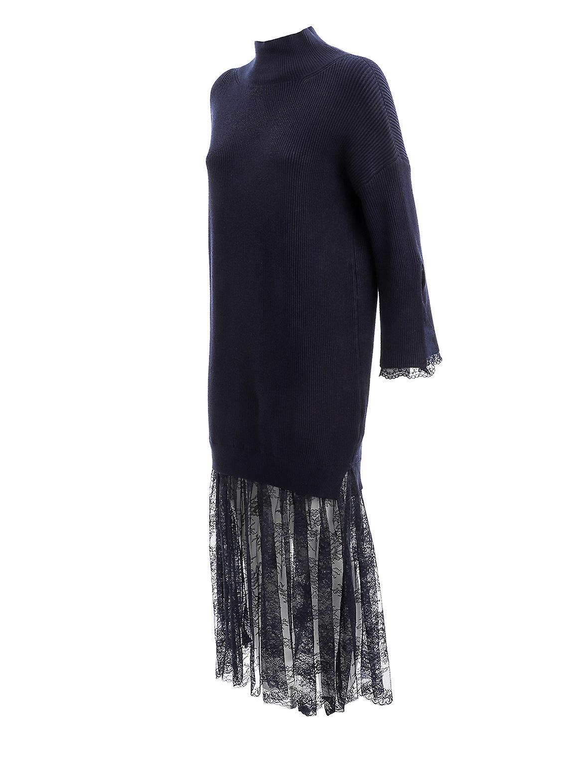 Super Specials Fantastisk pris Ermanno Scervino Ab26vis99 Damen's schwarze Viskose Kleid EDxl4