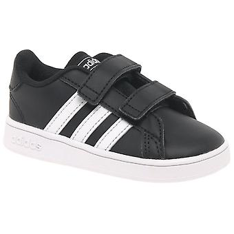 Adidas Grand Court Kids Infant Toddler Riptape Sports Trainers