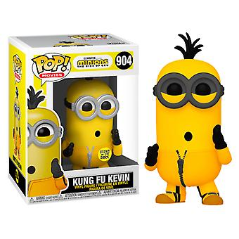 Minions 2 Rise of Gru Kevin Kung Fu Glow US Ex. Pop! Vinly