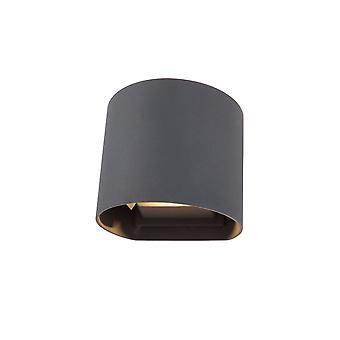 LED Up & Downward Lighting Wall Light 2x3W, 3000K, Antracite, 410lm, IP54