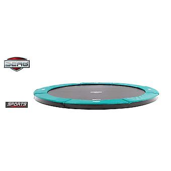 BERG FlatGround Champion 380 12.5ft Trampoline Sports Series Green