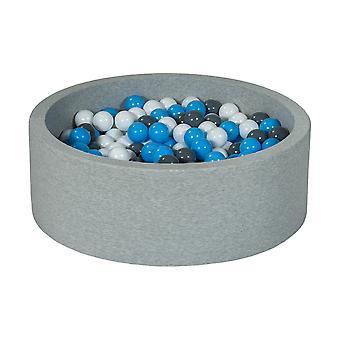 Boks kulowy 90 cm z 300 kulkami biały, szary i jasnoniebieski
