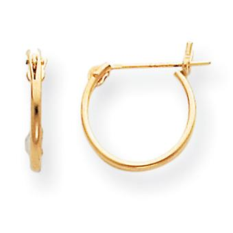 14k Yellow Gold Hollow Polished 1mm Hoop Earrings Measures 11x11mm Jewelry Gifts for Women