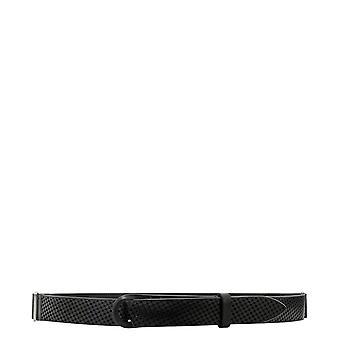 Orciani Nb0068bullsoft001 Men's Black Leather Belt