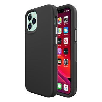 Für iPhone 12 Mini Case, stoßfeste Schutzhülle Schwarz
