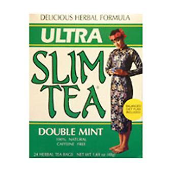 Hobe Labs Ultra Slim Tea, Double Mint 24 Bags
