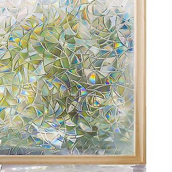 Decorative Window Privacy Film Stained Glass, Window Sticker Self-adhesive,