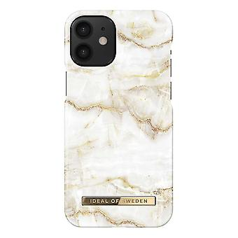 iDeal Of Sweden iPhone 12 Mini Shell - Kultainen helmi marmori