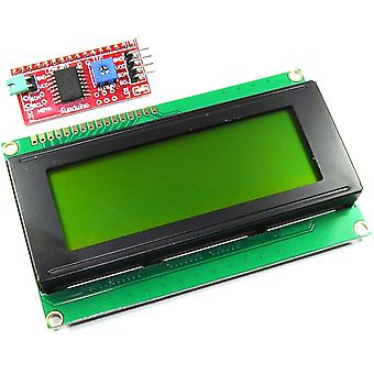 20x4 Green LCD with Funduino I2C Interface
