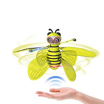 Mini Bee Drone Ufo Remote Control, Rc Animal Aircraft Toy  (yellow)