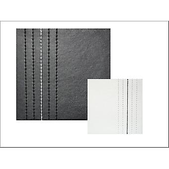 Home Living Coasters Faux Leather Black & White Stitch x 4