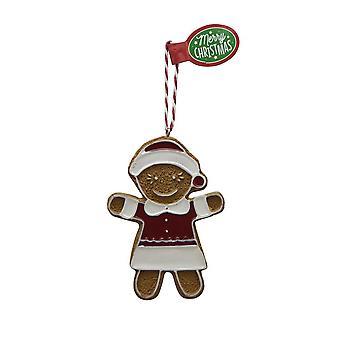 Pendentif d'arbre de Noël de figure de pain d'épice SHINY GIRL