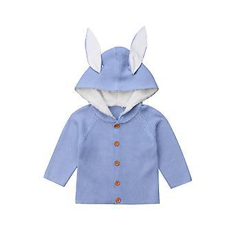 Baby tøj varme frakker nyfødte Toddler Kids Strikket Sweater