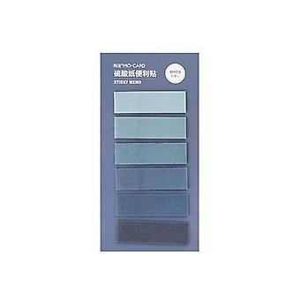 Gradient Memo Pad Sticker, Notepad, Kawaii Decor Sticky Notes