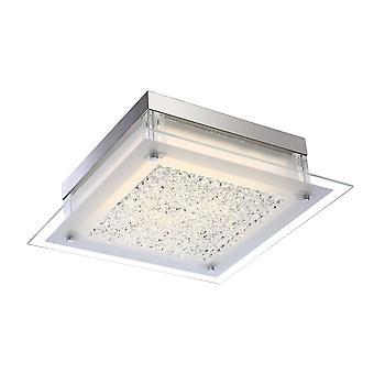 Klassieke LED Flush Plafond licht Chroom, Cool White 4000K 1360lm