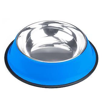 40oz. Tazón de perro de acero inoxidable azul
