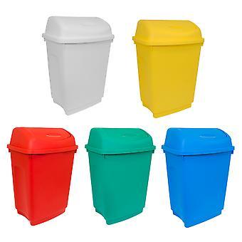 Charles Bentley Flip Top Müllküche für industrielle Handelsnutzung-Various Colours-50L