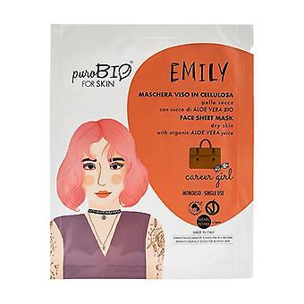 Emily Sheet Mask - Torr hud - Karriär Flicka 1 enhet