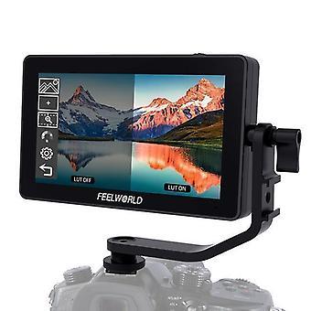 FEELWORLD F6 PULS 1920×1080 HDMI 5,5 tuuman kosketusnäytön ohjauskameran kenttänäyttö