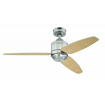 "Ceiling fan Sydney Nickel 112cm / 44"" with pull cord"