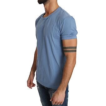 Dolce & καμπάνα μπλε βαμβάκι Stretch Crewneck εσώρουχα T-shirt