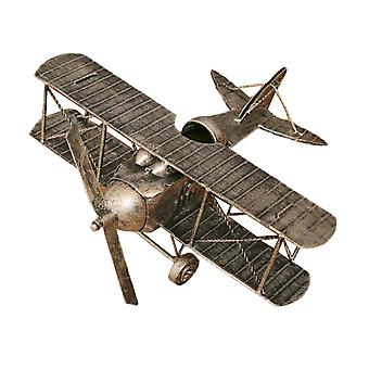 Home Wrought Iron Decoration Airplane Model Detachable Ornament Old Silver