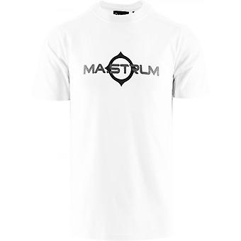 MA.STRUM White Short Sleeve Logo Print T-Shirt