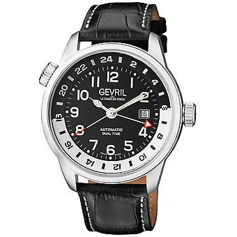 Gevril Canal Street Men's Swiss Automatic Calfskin Leather Watch