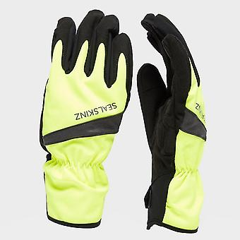 New Sealskinz Men's All Weather Cycle Gloves Yellow