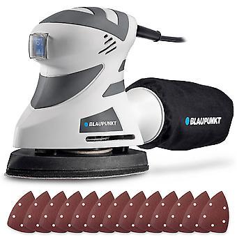 Blaupunkt Detail Sander - 180W Electric – 140x100mm – 12x Assorted Pads