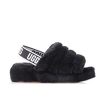 UGG W Pluisjes ja Slide 1095119BLK universeel het hele jaar vrouwen schoenen
