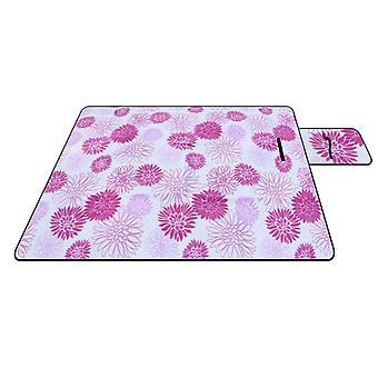 Piknik teppe, vanntett semsket piknik matte, utendørs camping folding piknik matte 150 × 200