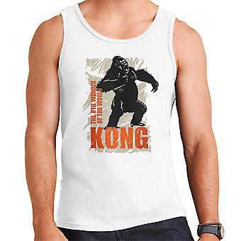 King Kong rugiendo la 8a maravilla del mundo hombres's chaleco