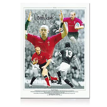 Gareth Thomas Signed Wales Rugby Photo