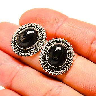"Star Diopside Earrings 3/4"" (925 Sterling Silver)  - Handmade Boho Vintage Jewelry EARR411045"