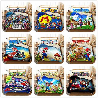 3d Mario Odyssey Switch Game Duvet Cover Set