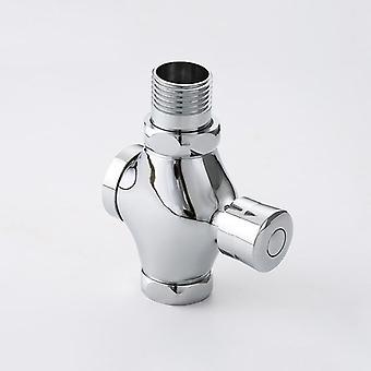 1pcs Mão de descarga de cobre pressionada válvula de descarga auto-fechamento