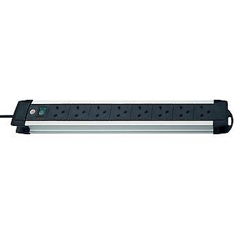 Brennenstuhl 1391003018 8 Way Extension Socket Black / Aluminium