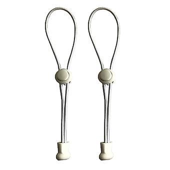 Schlichte weiße elastisch - elastische keine Krawatte Schloss Schnürsenkel Lock Schnürsenkel