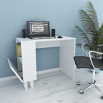 Schreibtisch Paris White Color in Melamin Spanplatte, L90xP50xA75 cm