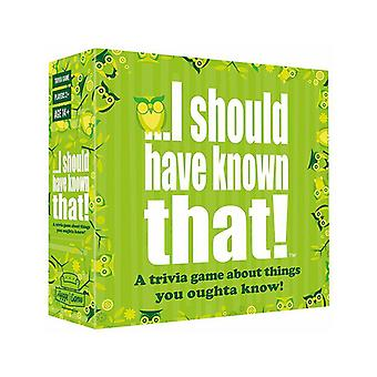 I should have known that! Party Game, Family Fun Trivia Game