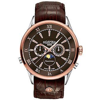 Roamer 508821 47 63 05 Superior Moonphase watch 43 mm