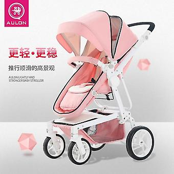 Two-way Implementation, Can Sit And Lay Safe And Secure Baby Stroller
