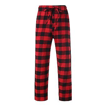 Menăs Loose Sleep Bottoms Plaid Lounge Pijama Pj Pantaloni Dimensiune S-2xl Casual