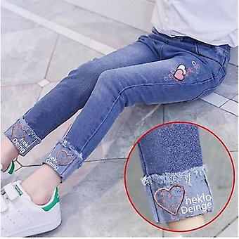 Kids Jeans Spring Fashion Holes Toddler Baby High Quality Letter Print Elastic
