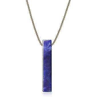 HaiFei Quader Anhnger aus Sodalith Halskette